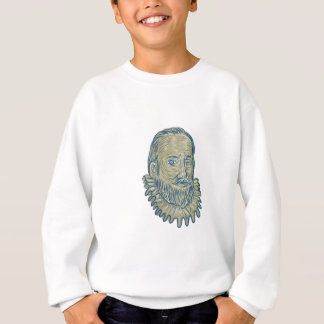 Sir Walter Raleigh Bust Drawing Sweatshirt