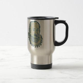 Sir Walter Raleigh Bust Drawing Travel Mug