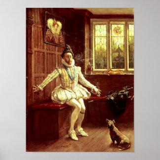 Sir Walter Raleigh's  First Smoke Poster
