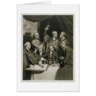 Sir William Hamilton (1730-1803) with other Connoi Card