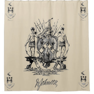 Sir William Johnson Coat of Arms Shower Curtain