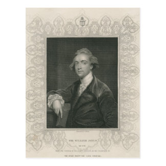 Sir William Jones from 'Gallery of Portraits' Postcard
