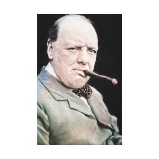 Sir Winston Churchill Canvas Print