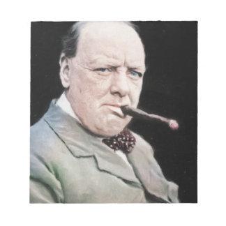 Sir Winston Churchill Notepad