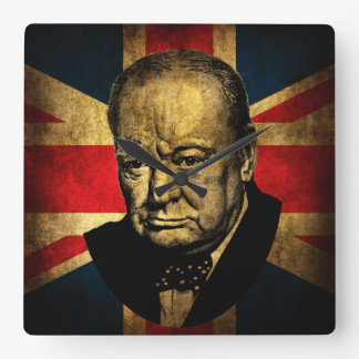 Sir Winston Churchill Square Wall Clock