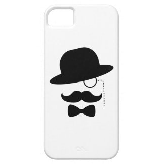 Sir with Moustache iPhone 5 Cases