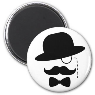 Sir with Moustache Refrigerator Magnets