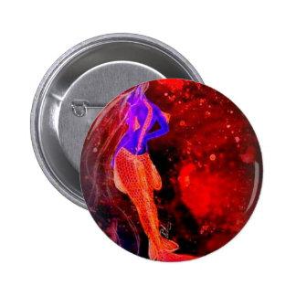 siren 6 cm round badge