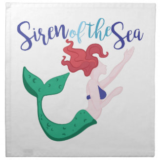 Siren Of Sea Napkin