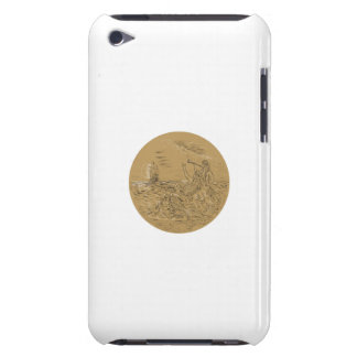 Siren On Island Waving Calling Tall Ship Circle Dr Case-Mate iPod Touch Case