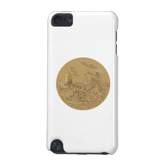 Siren On Island Waving Calling Tall Ship Circle Dr iPod Touch (5th Generation) Covers