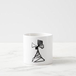 Siren radio tower espresso mugs