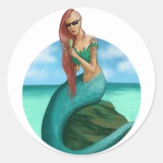 Siren Round Stickers