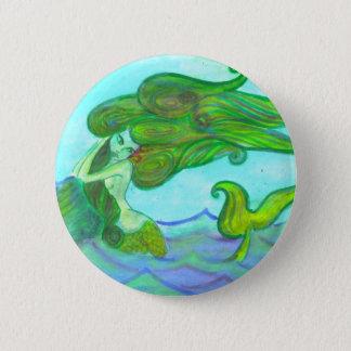 siren with the rock 6 cm round badge
