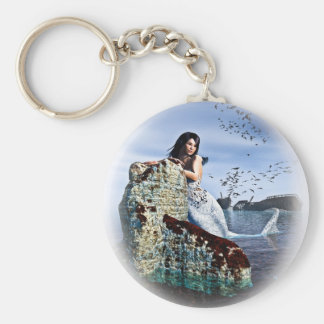 Sirens Song Basic Round Button Key Ring