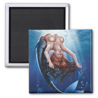 """Sirens"" Square Magnet"