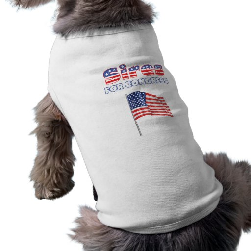 Sires for Congress Patriotic American Flag Doggie T-shirt