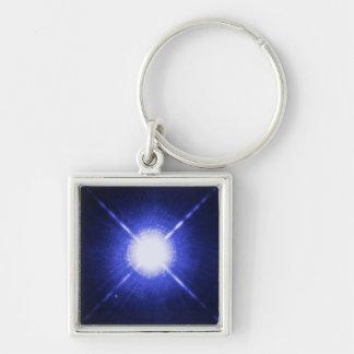 Sirius A and B bright night stars Key Ring