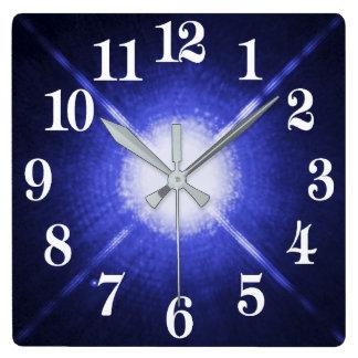 Sirius A and B bright night stars Square Wall Clock