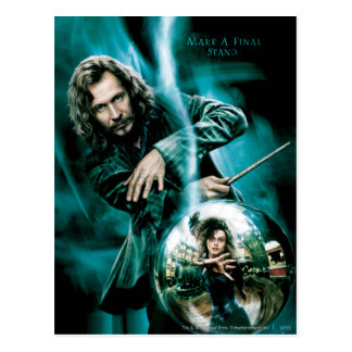 Sirius Black and Bellatrix Lestrange Postcard