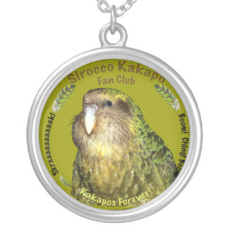 Sirocco Kakapo Fan Club Silver Plated Necklace