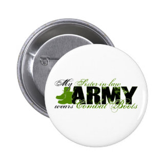 Sis law Combat Boots - ARMY Pinback Button