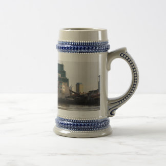 SIS Secret Service Building London And Rib Boat Beer Stein