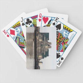 SIS Secret Service Building London And Rib Boat Bicycle Playing Cards