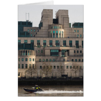 SIS Secret Service Building London And Rib Boat Card
