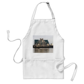 SIS Secret Service Building London And Rib Boat Standard Apron