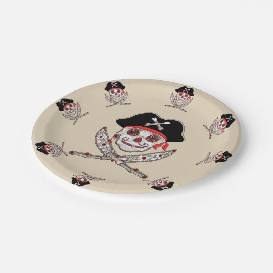 Sisal Pirate Paper Plate