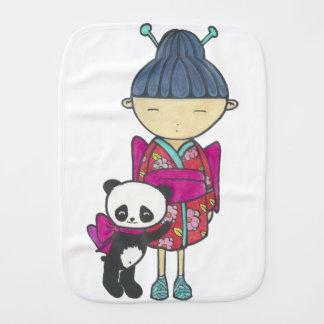 Sishu and bamboo burp cloth