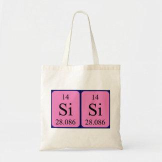 Sisi periodic table name tote bag