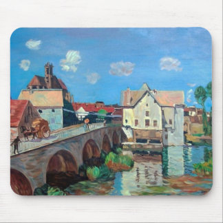Sisley--The Bridge at Moret Mouse Pad