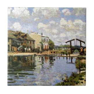 Sisley - The Canal Saint Martin, 1872 Ceramic Tile