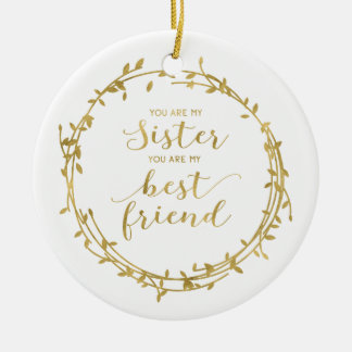 Sister and Best Friend Ornament