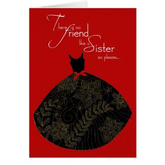 sister, be my bridesmaid card