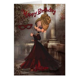 Sister Birthday Card with Moonies Cutie Pie Masque