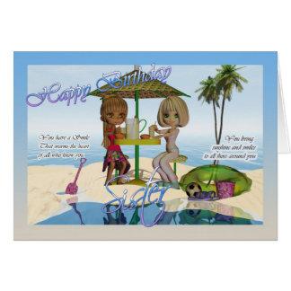 Sister Birthday, Cutie Pie collection Beach Life Card