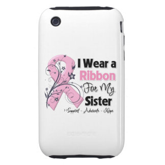 Sister - Breast Cancer Pink Ribbon Tough iPhone 3 Case