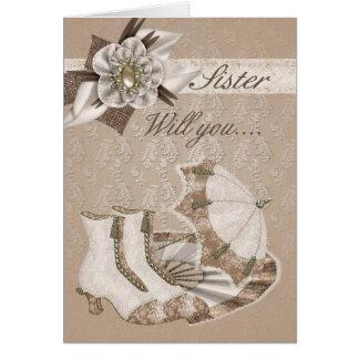 Sister Bridesmaid, Will you be my Bridesmaid? Card