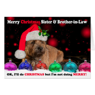 Sister & Brother-in-Law Grumpy Border Terrier Dog Card