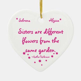 Sister Ceramic Ornament