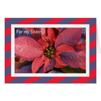 Sister Christmas Card -- Poinsettia