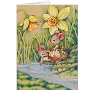 Sister Dearest - Cute Mouse Art Card