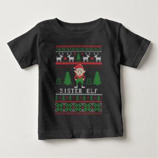 Sister Elf Ugly Christmas Baby T-Shirt