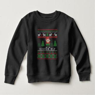 Sister Elf Ugly Christmas Sweatshirt