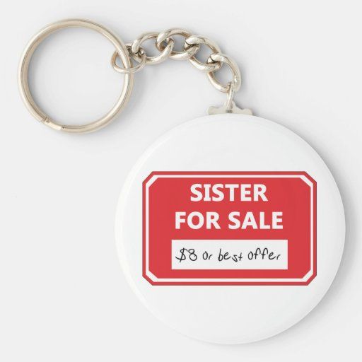 Sister for sale key chain