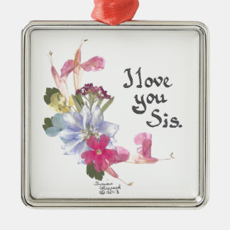 Sister gift Silver-Colored square decoration