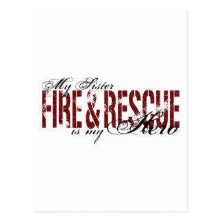 Sister Hero - Fire & Rescue Postcard